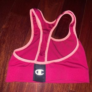 Champion Women's Red & Orange Sports Bra